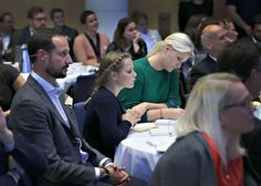 Crown Prince Haakon of Norway, Crown Princess Mette-Marit and Princess Ingrid Alexandra attended the SIKT 201conference in Bergen on October 27, 2015.
