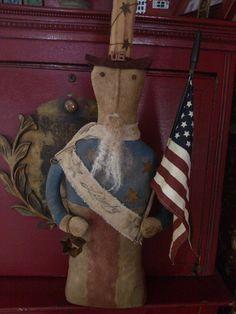 Folk Art Sam Primitive USA Patriotic American HCA by MeNtheGirls
