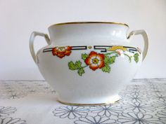Vintage Alfred Meakin China Sugar Bowl with by ForestHillsVintage, $8.00