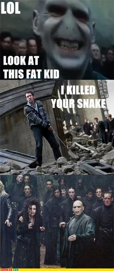 .voldemort's face .. xD