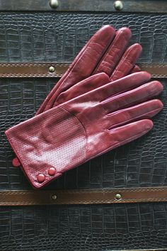 The Evelyn gloves...a pop of red makes a statement every time.