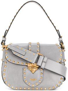 Moschino Studded Satchel Bag - Farfetch 395840be2360b