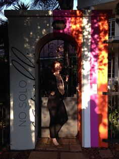 The newly dressed entrance of No Solo Capelli, with our Star Lily Blanc