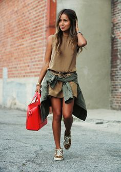 Olive Jacket Brown Dress Leopard Sneakers Tennis Shoes Casual Summer