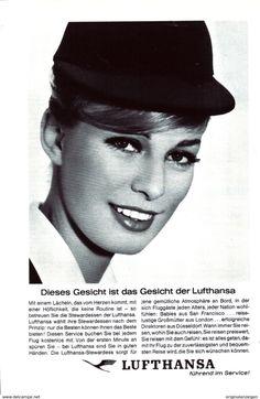 Werbung - Original-Werbung/ Anzeige 1962 - LUFTHANSA - ca. 150 x 230 mm