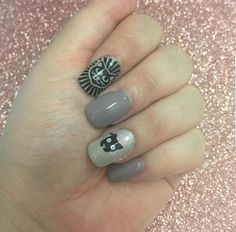 Cat themed square nails