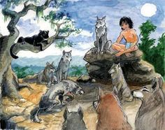 Jungle Book (Fictional story of a boy raised in a wilderness)