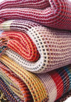 Good angle to shoot knit blankets. Honeycomb Throws — Interiors — Wallace Sewell