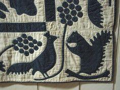 Appliqué Quilt, Oak Leaf and Reel Pattern (SOLD) | Olde Hope Antiques