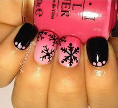 Cool Snowflake Nail Art. As symbols of the winter season, snowflake nail art are wonderful and can instantly make a regular manicure look like a work of art. http://hative.com/cool-snowflake-nail-art-designs/