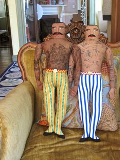 Dolls by Mimi Kirchner - Inventive, yes, but I don't think I could have them in my house.