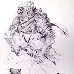 Lunch knight #sketch
