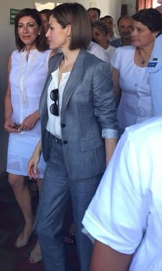 Queen Letizia of Spain visited a market in Suchitoto, 47 km east of San Salvador, on May 27, 2015.