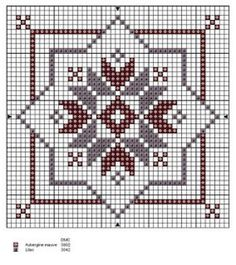 BISCORNU, ALFILETEROS, GUARDATIJERAS, ....A PUNO DE CRUZ | Aprender manualidades es facilisimo.com Cross Stitch Freebies, Biscornu Cross Stitch, Cross Stitch Charts, Cross Stitch Designs, Cross Stitch Patterns, Cross Stitch Embroidery, Knitting Charts, Christmas Embroidery, Tapestry Crochet