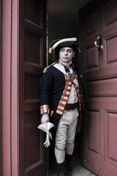 Re-enactor in the Battle of Trenton during Patriots' Week 2012.