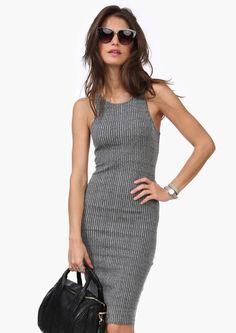 Ribbed Midi Dress | Shop for Ribbed Midi Dress Online