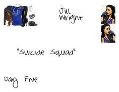 """Jill Wright Sapphire Arrow 2.16 ""Su*c*de Squad"""" by mysticfalls1997 ❤ liked on Polyvore featuring Jane Norman, Rick Owens, Zalando, Prada, ABS by Allen Schwartz, Armenta, LowLuv and Pieces"