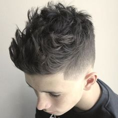 Classic Taper Fade with Textured Spiky Hair