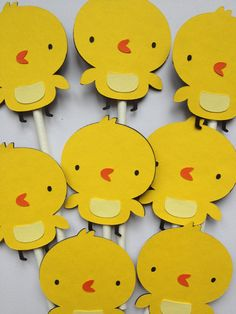 Set Of 12 Chicks Cupcake Toppers, cow, sheep, pig, horse, chick, farm animals, First birthday party, baby showers, cupcake decorations