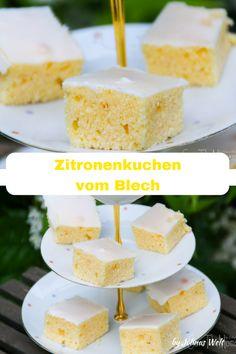 Jolinas World: Lemon cake from the tin - Kuchen - cake recipes Easy Cake Recipes, Dessert Recipes, Salad Recipes, Lemon Desserts, Morning Food, Food Cakes, Savoury Cake, Food Plating, Clean Eating Snacks