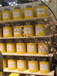 Yellow canisters! Picture my pantry . . . . .