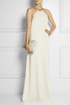 Calvin Klein Collection | Jarvis crepe maxi dress | Proenza Schouler sandals | NET-A-PORTER.COM