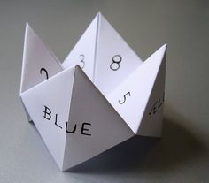 Grade school Fortune Teller - do I remember boys names under those numbers??