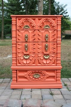 Vintage Elaborate Coral Chest of Drawers/Dresser by tootyb on Etsy, $400.00
