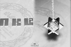 3pcs Puzzle Cube Pendant Silver