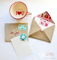 DIY Sew Valentines Cards