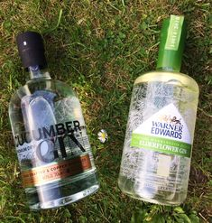English Premium Cucumber gin and Warner Edwards Elderflower gin.