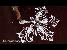 Simple Kolams with 7X4 dots | Easy Muggulu | Easy Rangoli Designs | Apartment Rangolis - YouTube