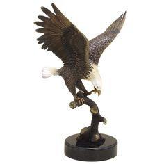 Eagle on Branch Figurine