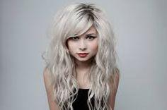 silver blonde hair.