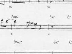 """Animated Sheet Music: """"Giant Steps"""" by John Coltrane Learn Giant Steps by John Coltrane and his amazing solo Jazz Music, Music Love, Good Music, Music Class, Jazz Saxophone, A Love Supreme, Giant Steps, Free Jazz, Music And Movement"""