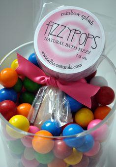 Bath fizzy pops for party favors!