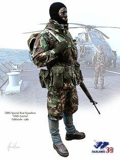 SBS Special Boat Squadron. Falkland 1983