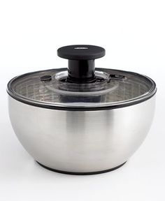 OXO Stainless Steel Salad Spinner--omg this would make life so much easier!!