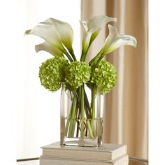 Calla Lilly Bouquet ($295) ❤ liked on Polyvore