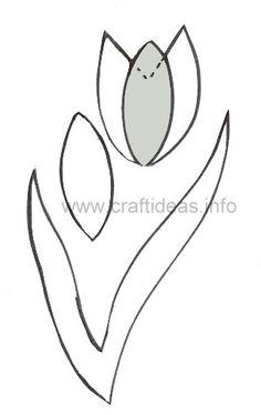 Felt Crafts for Eas ter - Tulip Craft Pattern