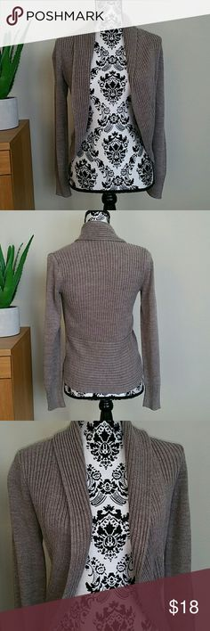 Taupe Open Cardigan Cute for Autumn.  Material tag is cut off. Color: Heather brown 100% Acrylic Forever 21 Sweaters Cardigans