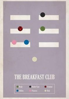 The 30 Coolest Alternative Movie Posters (The Breakfast Club pictured)