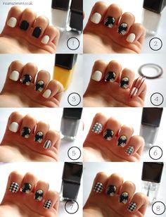 Gingham and Daisy ASOS inspired nail art tutorial