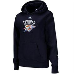 adidas Oklahoma City Thunder Ladies Primary Logo Pullover Hoodie - Navy Blue