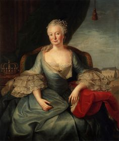 Portrait of Elisabeth Christine of Brunswick-Wolfenbüttel-Bevern, Queen of Prussia by Frederic Reclam and/ or Joachim Martin Falbe, 1765