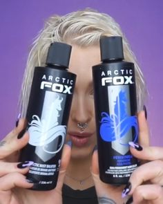 "beauty How to get rid of yellow tones! Best way I have ever toned my hair!💙 Hope you enjoy this hair tutorial! Leave a ""💙"" if you did 🥰💙💙💙 __________ Annonserte produkter merket med * Periwinkle* Arctic Mist Diluter* Artic Fox Hair, Arctic Fox Hair Color, Blonde Hair Care, Platinum Blonde Hair, Toning Blonde Hair, How To Tone Blonde Hair, Tone Yellow Hair, Blonde Hair Colors, Toner For Blonde Hair"
