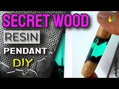 DIY. KERAJINAN RESIN KAYU (RESIN PENDANT) / RESIN ART - YouTube Wood Resin, Resin Art, Making Resin Rings, Resin Pendant, Resin Crafts, Wooden Diy, Youtube, Youtubers, Youtube Movies