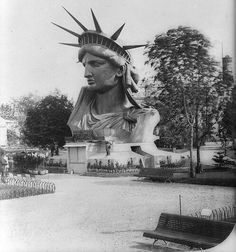 TwitterThe Statue of Liberty at the 1878 Paris Worlds Fair.