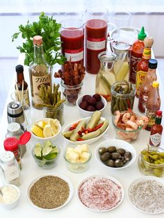 The Best Bloody Mary Recipe and How to Build Your Own Bloody Mary Bar  It's always been hard for me to like Bloody Mary's, though I've only tried a sip of one or two so I can't really say that yet haha, but I do want to try it again. The spicier, the better.