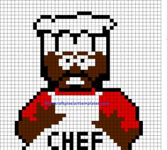 Chef South Park perler bead pattern